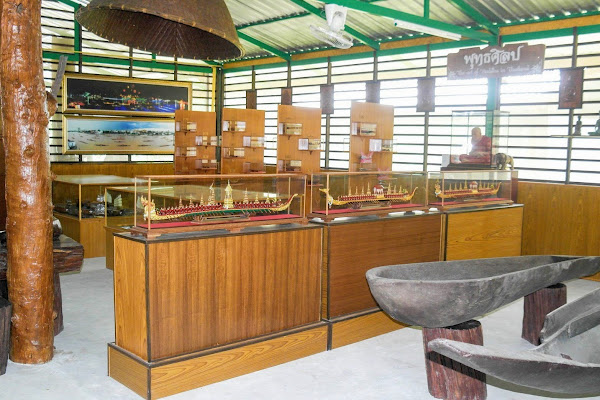 The museum features old Thai boats and other ancient appliances
