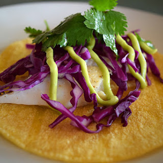 Fish Tacos With Avocado-Lime Dressing