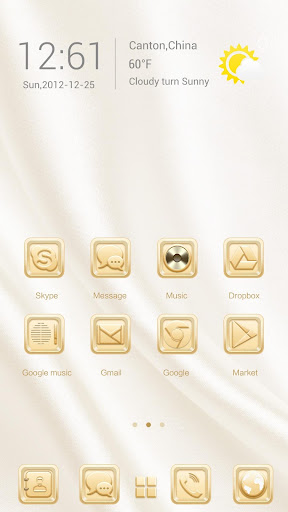 Golden Metal Go Launcher Theme