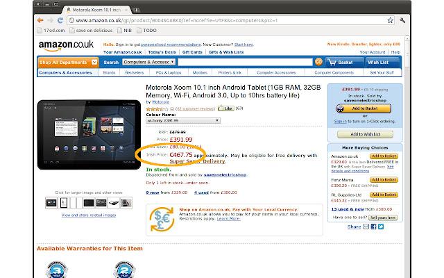 Amazon Prices for Ireland