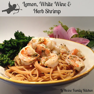 Lemon, White Wine & Herb Shrimp