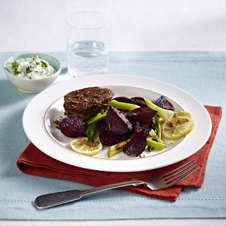 Steak with Roasted Beets