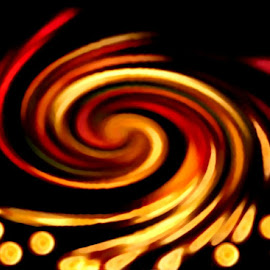 Bubbly Amber Swirl by RMC Rochester - Digital Art Abstract (  )