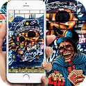 street graffiti Skull theme icon
