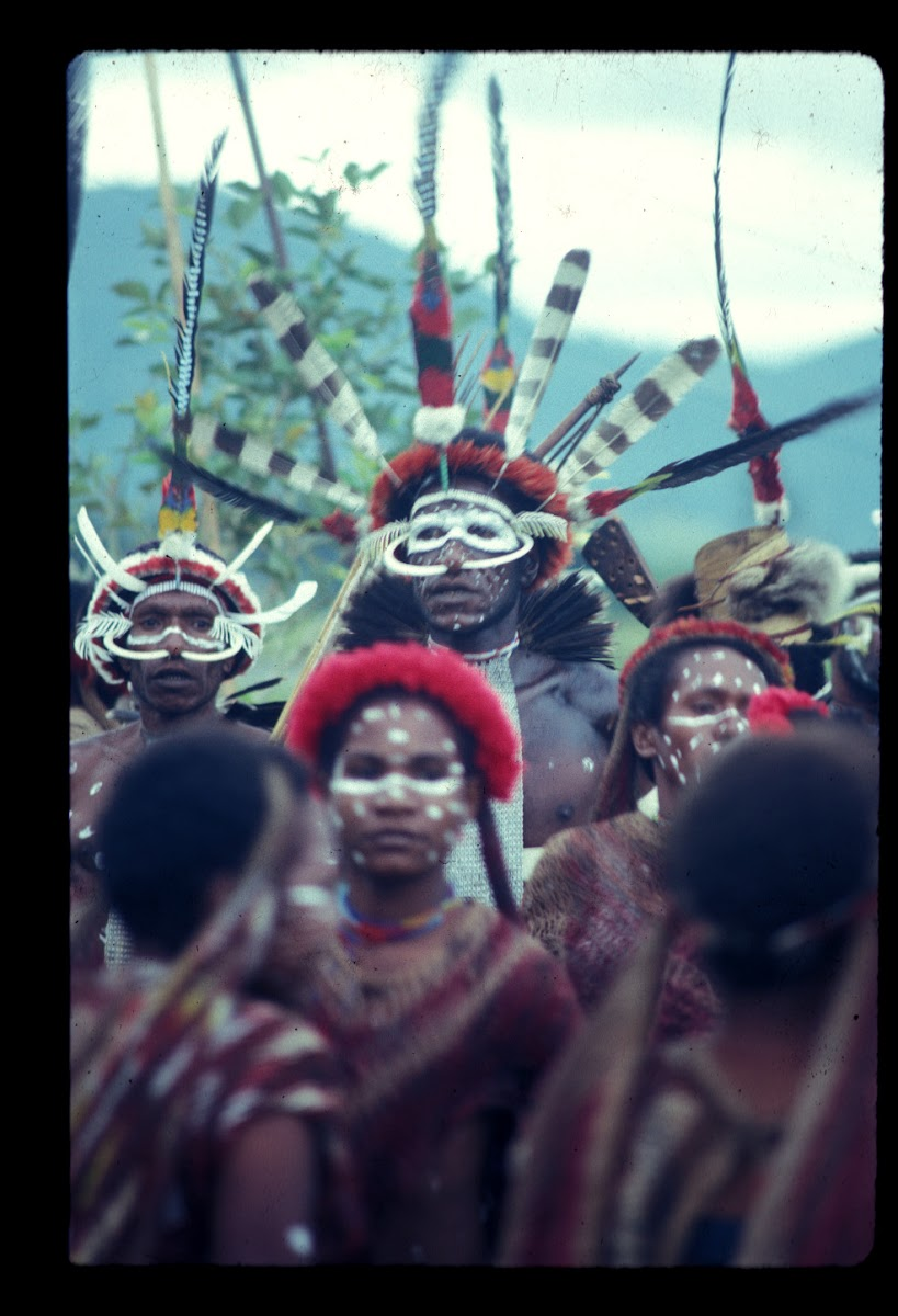 Papua. Tribes Baliem Valley Time Travel. Traditional Head Paint