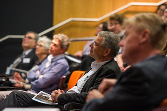 Photo: Prof Steve Wesselingh enjoying the presentation. Steve W was Dean of Monash's medical faculty and is now Director of the South Australian Health and Medical Research Institute. http://www.med.monash.edu.au/cecs/events/2015-tr-symposium.html