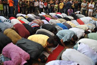 Photo: Dozens participated in the prayer.