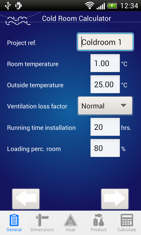 Cold Room Calculator- screenshot