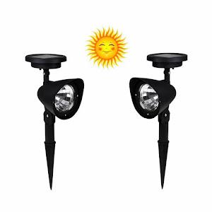Set Lampi Solare.Set 2 Lampi Solare Pentru Gradina 3 Led Fara Fir Cu Senzor De Lumina Cod Oferta 4174