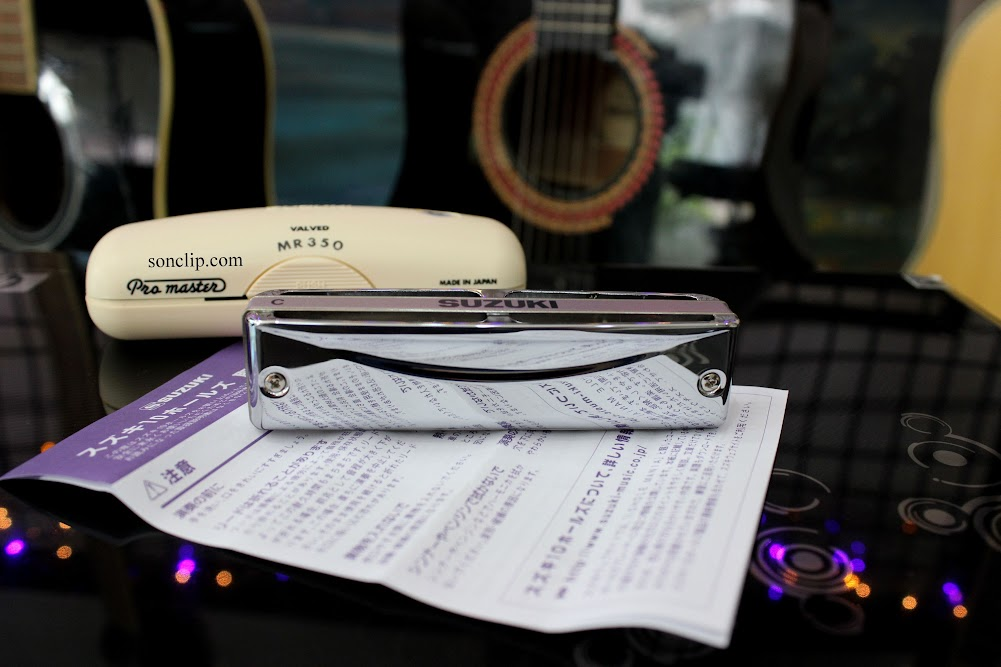 Kèn Harmonica - Suzuki ProMaster Valved MR-350V (key C)
