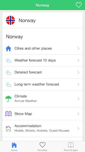 挪威天气预报,引导旅客。