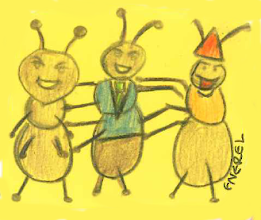 Photo: Enerel's ants are getting ready to dance like they've got humans in their pants.
