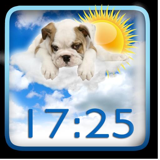 可愛い時計天気ウィジェット 天氣 App LOGO-APP開箱王