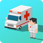 Ambulance Blocky icon