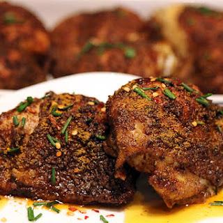 Crispy Curry Rub Chicken Thighs