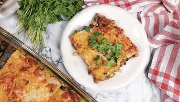 Plant-Based Taco Lasagna | Deliciously Dairy-Free
