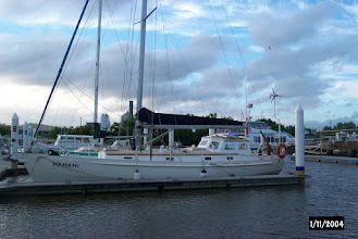 Photo: Safely berthed at Pepper's Marina, Launceston