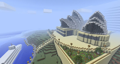 Photo: another Sydney Opera House, built by Ron Smalec. It is part of the Superheroes Adventure Map: http://www.minecraftforum.net/topic/344730-adv-minecraft-superheroes/
