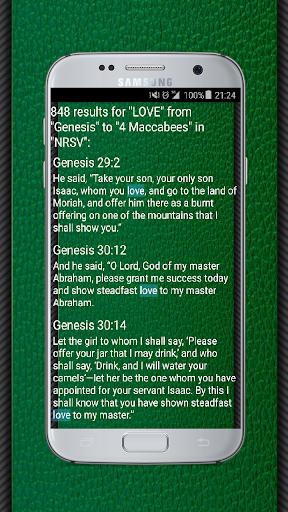 Bible (NRSV) New Revised Standard Version English App Report
