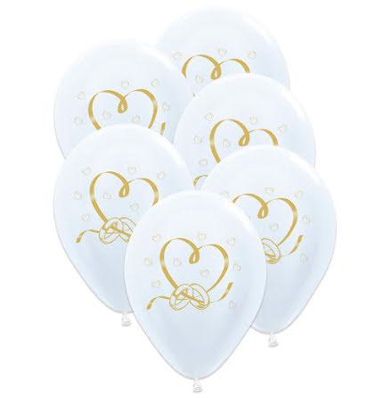 Ballonger, bröllop 6 st