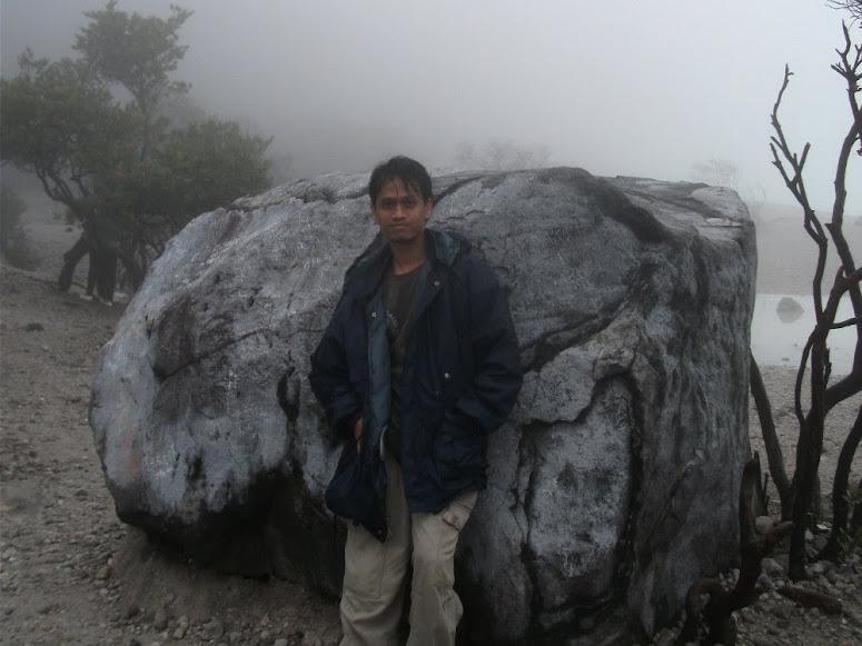 This is The Iconic Big Stones of Kawah Putih