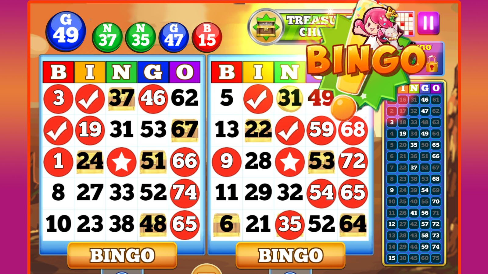 BINGO!- screenshot
