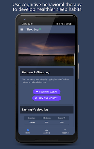 Screenshot for Sleep Log Pro: The CBT-I sleep diary for insomnia in United States Play Store