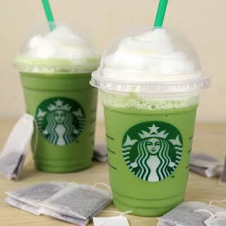 Green Tea Frappuccino.