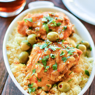 Moroccan Chicken Thighs with Olives