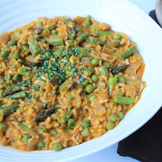 Creamy Asparagus and Pea Risotto.