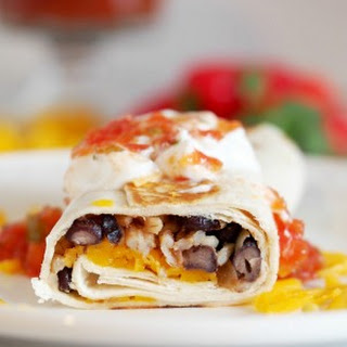 Crispy Black Bean Burritos.