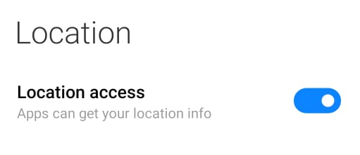 Enable Location