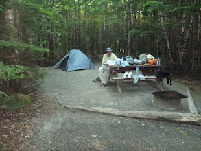 Photo: Our campsite in Katahdin Stream Campground