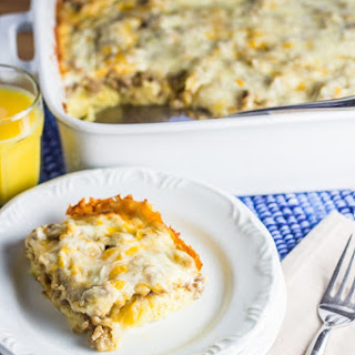 Overnight Sausage Egg Breakfast Casserole Recipe