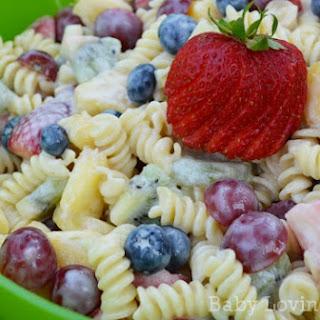 Fruit and Yogurt Pasta Salad.