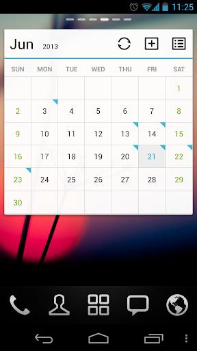 GO Calendar Widget screenshot 1