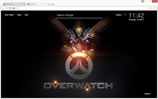 overwatch wallpapers hd new tab themes chrome web store