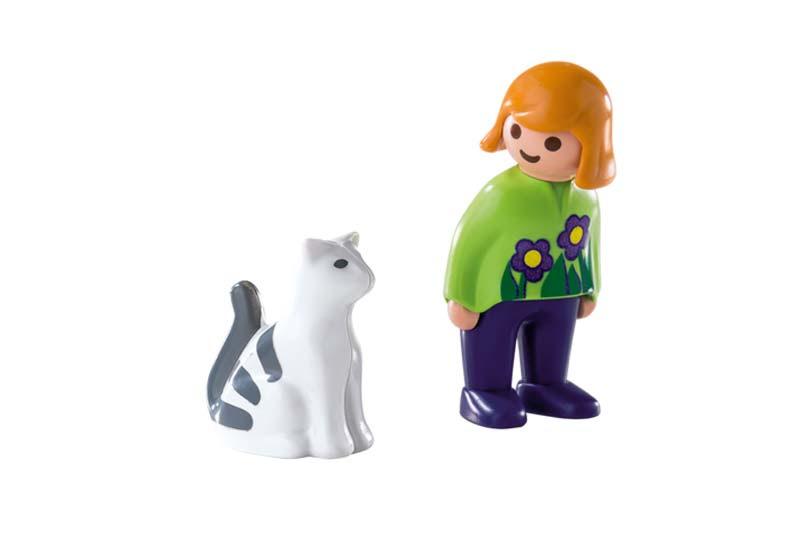 Contenido real de Playmobil® 6975 Mujer con Gato