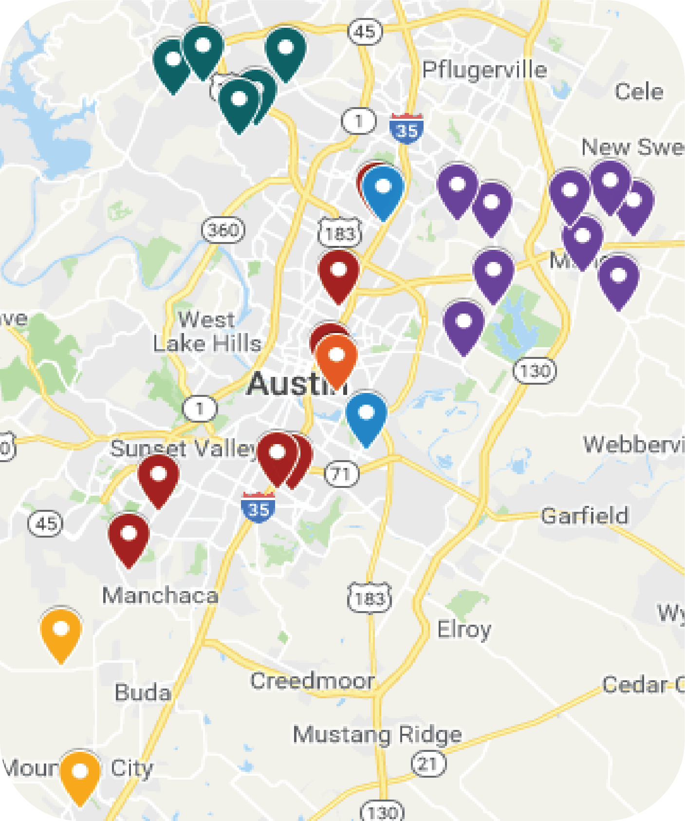 Google Map of Afterschool Sites