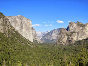 Photo: The iconic view of the Yosemite Valley, Half Dome in the distance. In Spring this view includes several waterfalls.