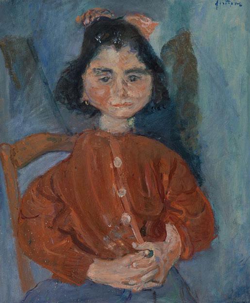 Хаим Сутин. Девочка в красной блузке.