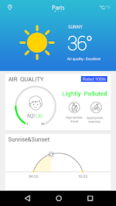Fine Weather&AQI Forecast screenshot 1
