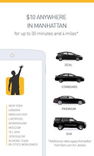 Gett - NYC Black Car App- screenshot thumbnail
