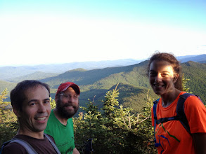 Photo: Trail runners stop for a photo at Camel's Hump State Park