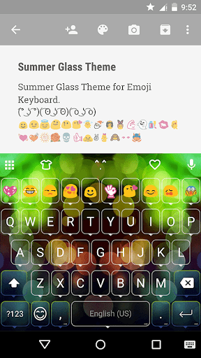 Summer Glass Emoji Keyboard