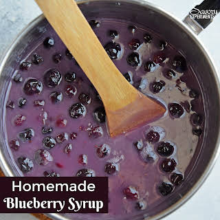 Homemade Blueberry Syrup.