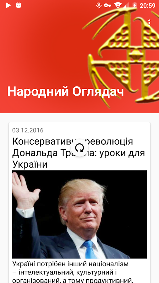 Ukrainian National Observer- screenshot