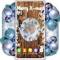 Christmas Clock Live Wallpaper 🎄Holiday Wallpaper icon