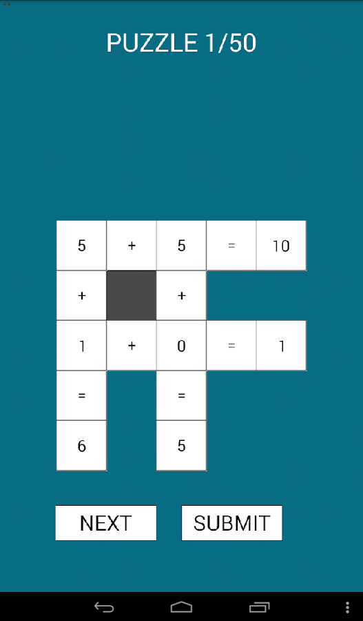 Math Cross Puzzle- screenshot