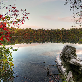 Green Lake, Fayettesville, New York by Arvind Mallya - Landscapes Waterscapes ( green lake, fall colors, new york, fayettesville )